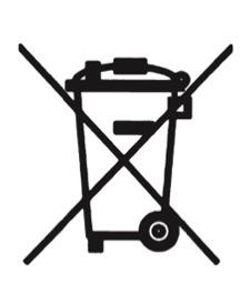 Beschreibung: Durchgestrichene Abfalltonne auf Rädern
