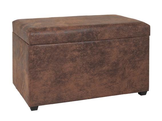einrichtungshaus hansel delbruck westenholz markenshops tische sitztruhe sitztruhe mit stauraum als sitzmobel vintagebraunes kunstleder ca