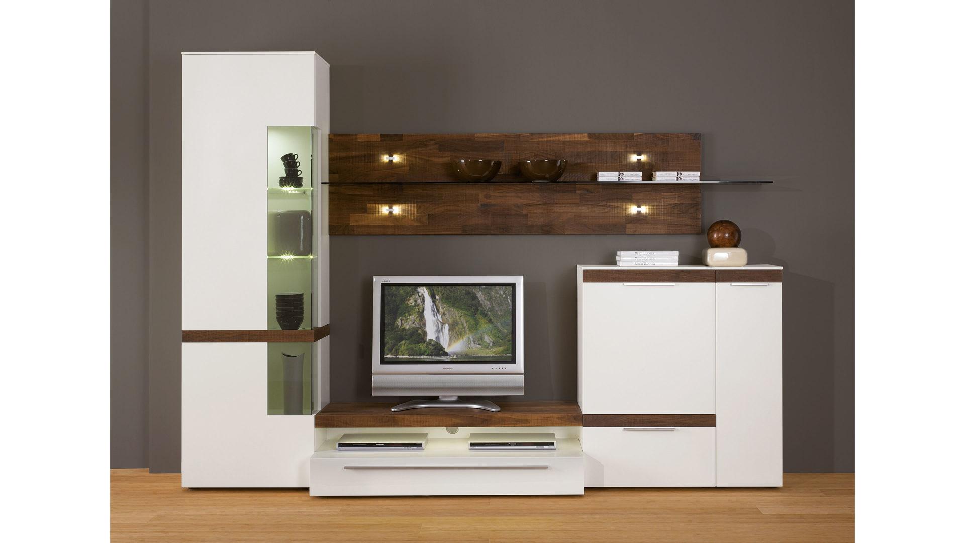 fernseh wand modern holz - wohndesign -