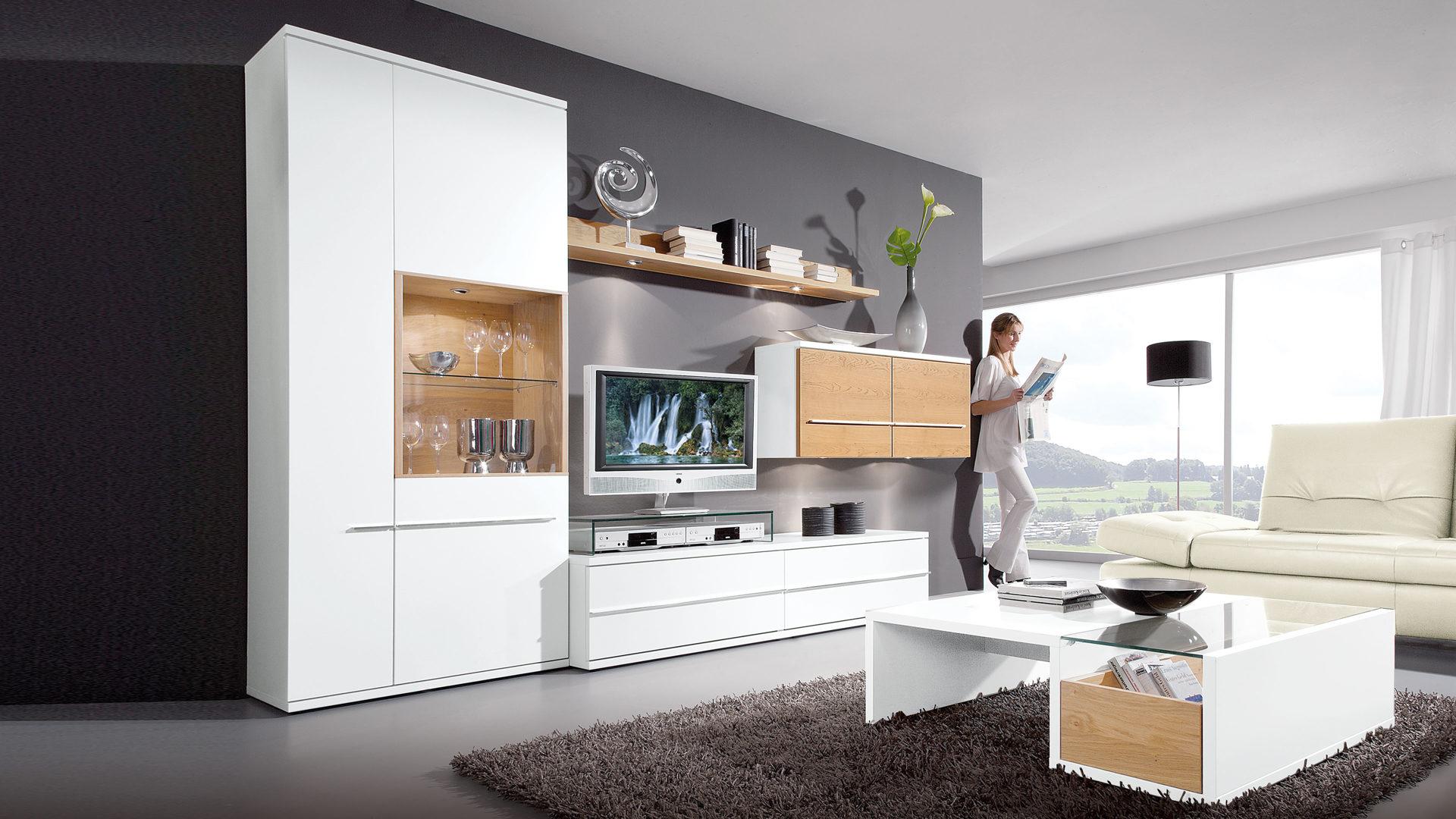 Wohnwand holz eiche  Einrichtungshaus Hansel Delbrück-Westenholz | Möbel A-Z | Schränke ...